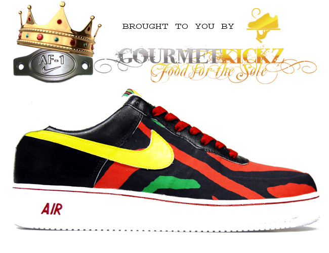 Custom Nike Air Force One Low End Theory by GourmetKickz