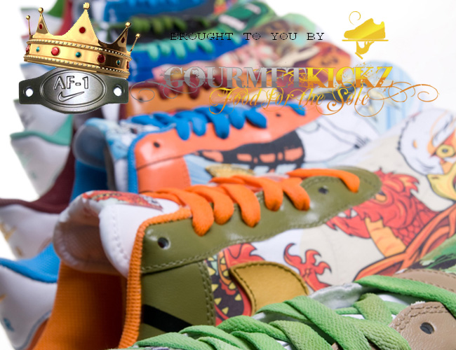 Custom Nike Air Force 1 Set from 1800 Tequila x GourmetKickz Collaboration