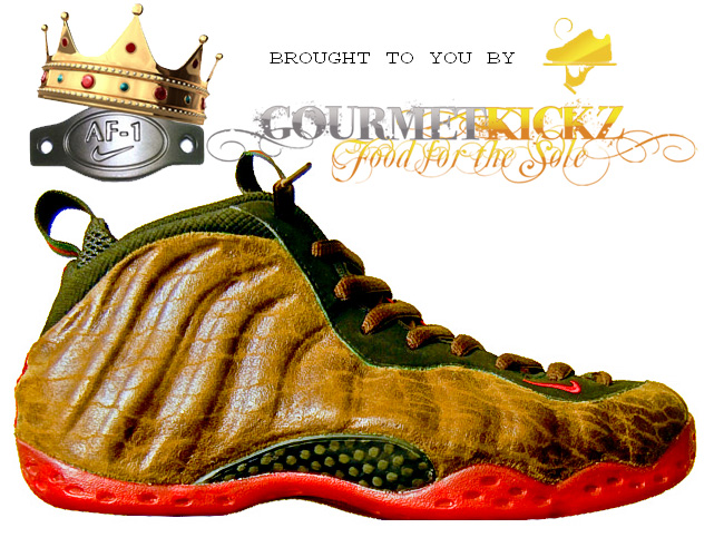 "Buy this pair of Custom Nike Air Foamposite One Lux ""Gucci Bag"""