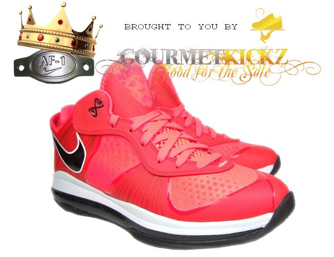 Nike Air Max Lebron 8 V2 Solar Red 456849-600 Available Now on AF1King Store