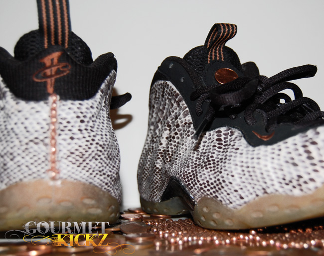 Custom Copperhead Foamposite Ones by GourmetKickz