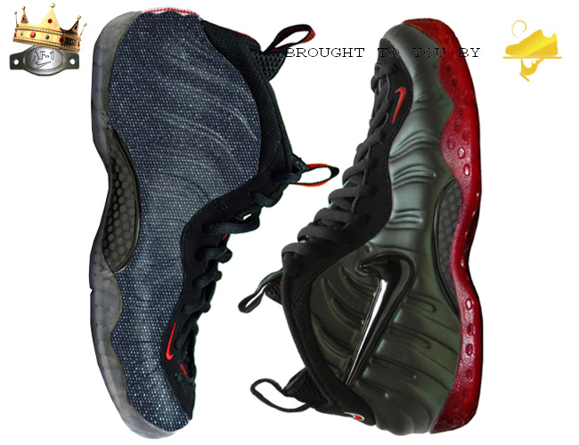 Foamposite Sole Swaps and Denim Wrap Package