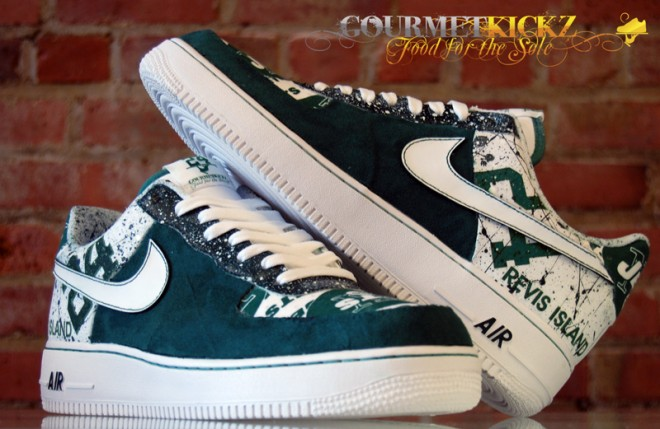 Gourmetkickz Custom Ny Jets Af1 Low For Darelle Revis