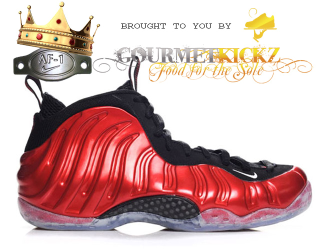 Metallic Red Nike Foamposite Shipping Now