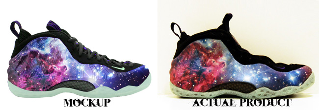 Cutom Galaxy Foamposite One Comparison