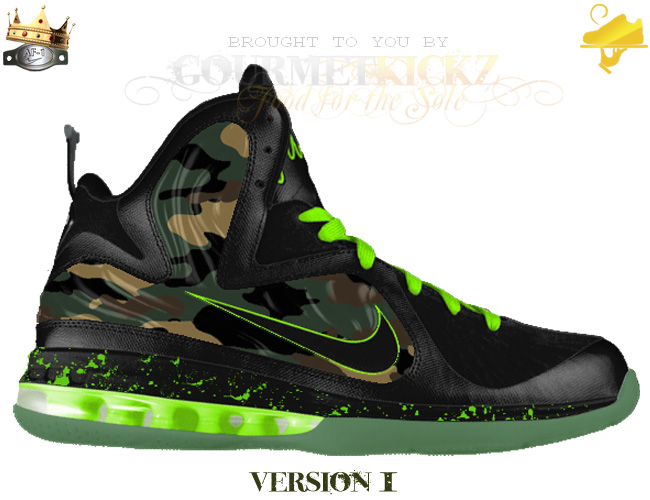 "Custom Camouflage LeBron 9 Foamposite ""Force of the King's Army"""