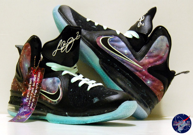 "Custom LeBron 9 Galaxy Foamposite ""King of the Galaxy"" by GourmetKickz"
