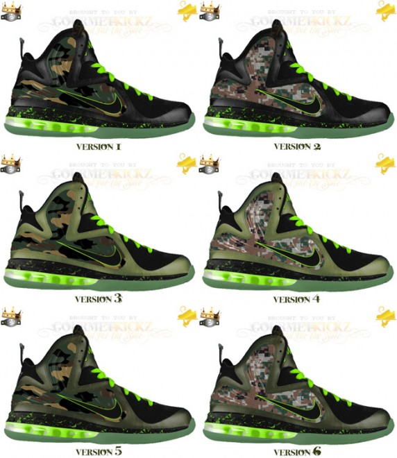 "Custom Camouflage VT LeBron 9 Foamposite ""Force of the King's Army"" by GourmetKickz"