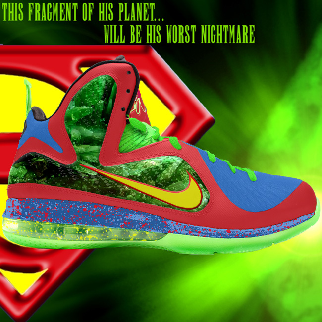 Custom Superman LeBron 9 by GourmetKickz Dunkman of Steel
