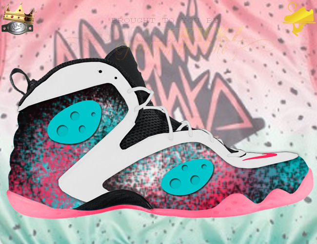 Custom Miami Nights Zoom Rookie Foamposite Rookie Nights