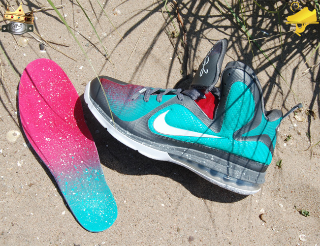 "Custom ""MVP in South Beach"" LeBron 9 by GourmetKickz"