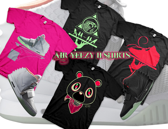 Nike Air Yeezy II Shirts by GourmetKickz Now Available