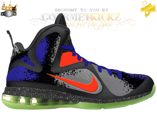 Custom Reverse The Nerf LeBron 9 by GourmetKickz