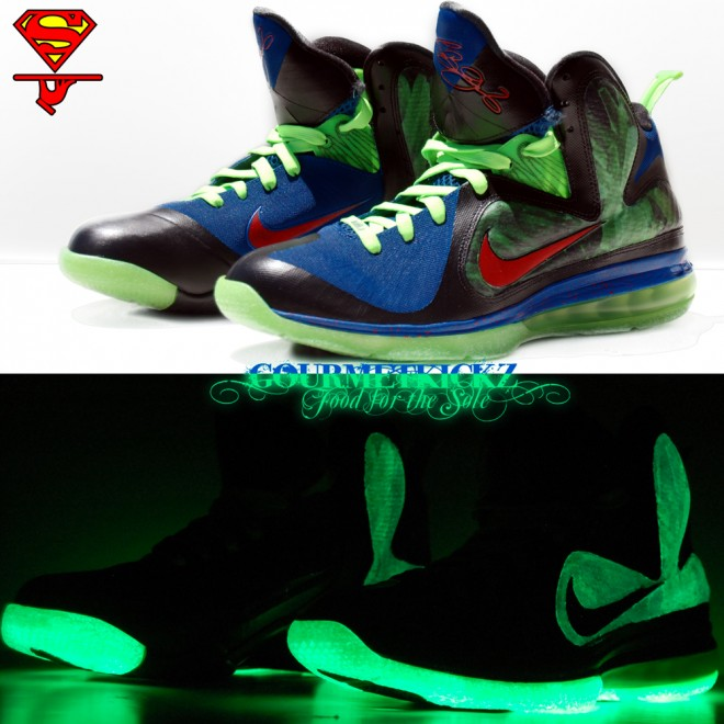 "Custom Superman ""KryptoNine"" LeBron 9 by GourmetKickz"