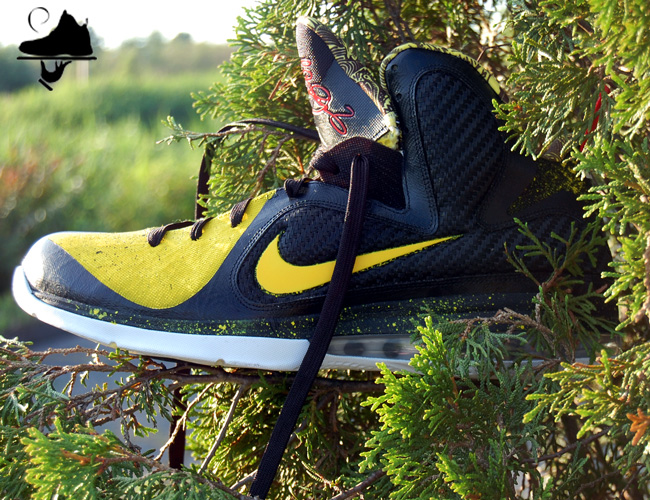 "Custom LeBron 9 ""Killer BeeGums"" by GourmetKickz"
