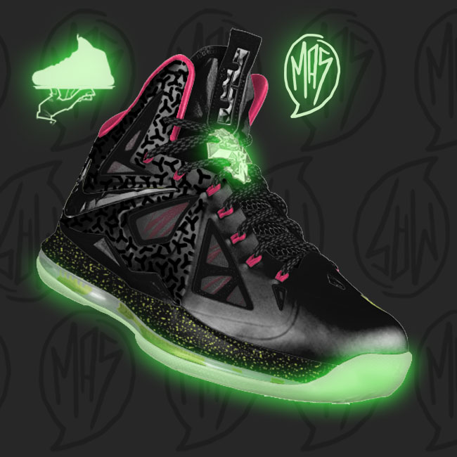 Custom Blink Yeezy LeBron X MasToChef Homme Project