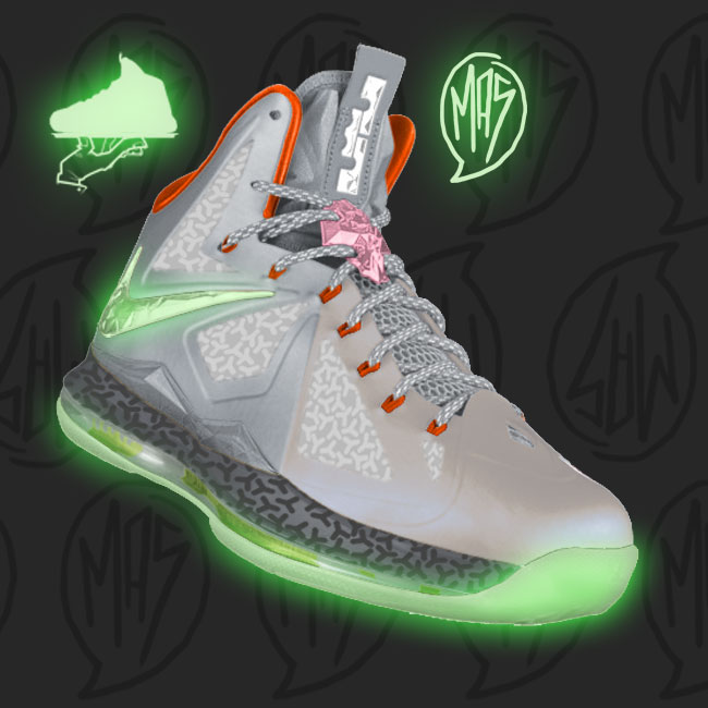 Custom LeBron X Zen Yeezy Inspired
