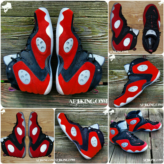 Custom Red Suede Raging Rookie by GourmetKickz