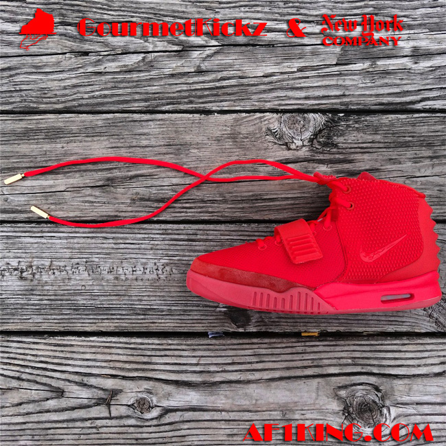 Red Nike Air Yeezy 2 SP