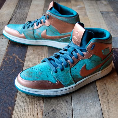 Custom Patina Pack AJ1 Mid by GourmetKickz