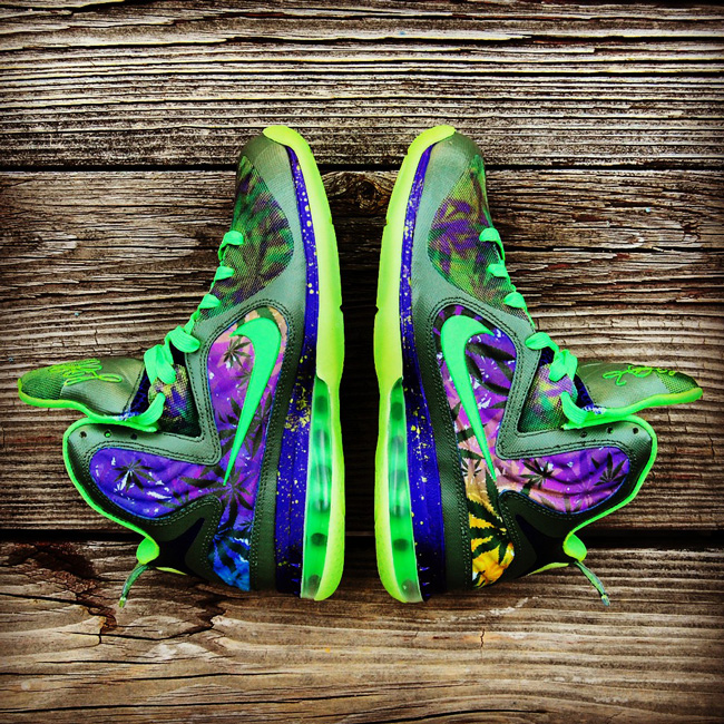 "LeBron 9 ""420"" Custom by GourmetKickz"