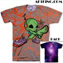"Mas for GourmetKickz ""Mas-Ter Blaster"" Raygun Area 72 LeBron X All Over Print T-Shirt"