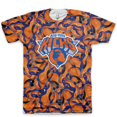 NY Kicks (Run The Sneaker World) All Over Print Knicks Foamposite Shirt by GourmetKickz