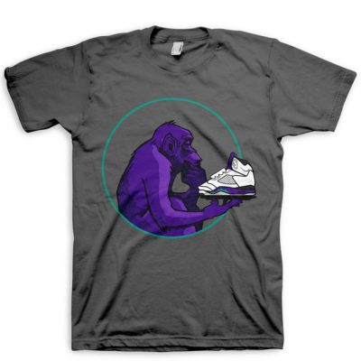 Grape Ape Ponders Grape | Grape Jordan V (5) Hook Up T-Shirt by GourmetKickz