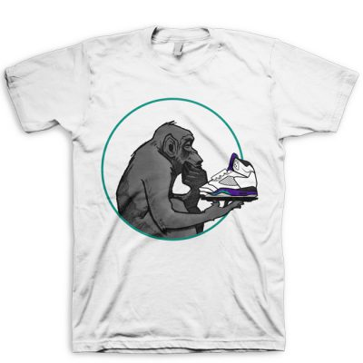Ape Ponders Grape Grape Jordan V (5) Hook Up T-Shirt by GourmetKickz
