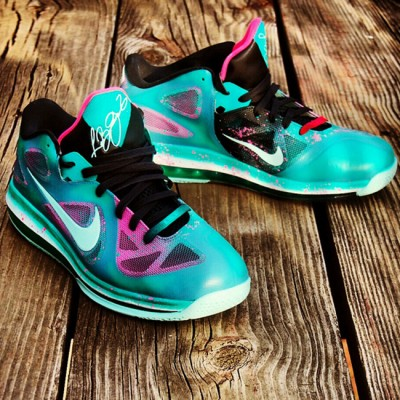 "Custom LeBron 9 Low ""Easter in South Beach"" aka ""Beachster Bunny"" by GourmetKickz"