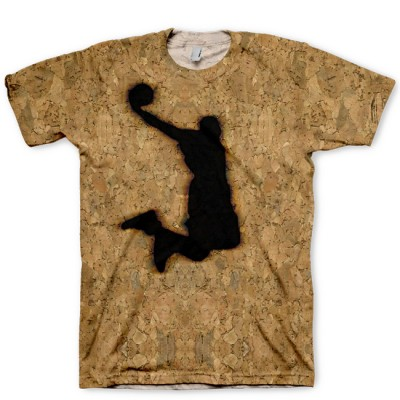Branded Dunkman on Cork All Over Print LeBron X Cork Hook Up T-Shirt by GourmetKickz