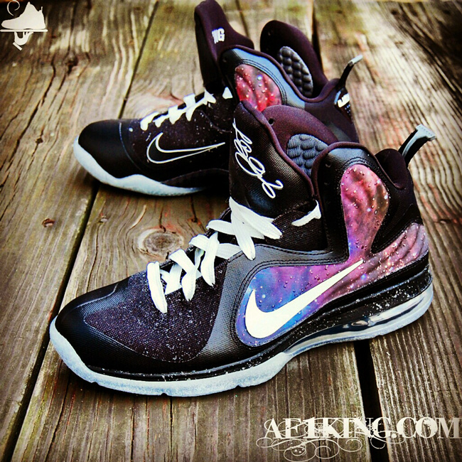 "save off 1023f 2b739 Custom Nike LeBron 9 Galaxy Foamposite Custom ""King of the Galaxy"" by  GourmetKickz"