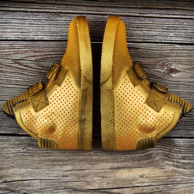 "Custom ""Gold Stepper"" Flystepper 2K3 by GourmetKickz"