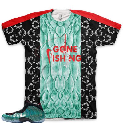 Gone Fishing Foamposite Shirt V1 by GourmetKickz