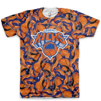 GourmetKicks NY Knicks Foamposite All Over Print Shirt by GourmetKickz