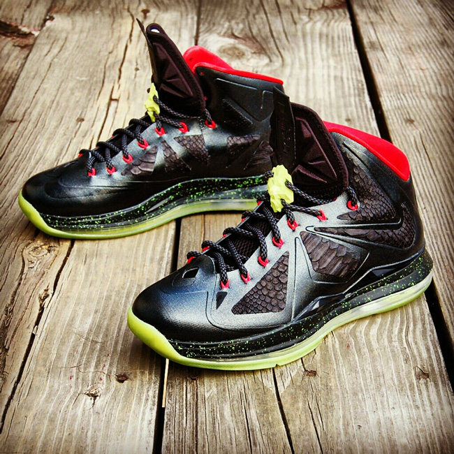 "Custom LeBron X (10) Solar Red Air Yeezy II Inspired | ""MasToChef Homme Project"""