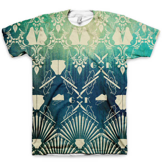 The Distressed Damask All Over Print Logo T-Shirt by GourmetKickz