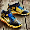 "Custom LeBron 9 Low ""Killer Bees Blue In"" by GourmetKickz 