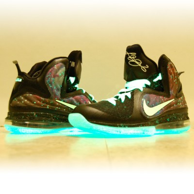 "save off 35ca4 d73ad Custom Nike LeBron 9 Galaxy Foamposite Custom ""King of the Galaxy"" by  GourmetKickz"