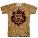 Branded Lion Head on Cork All Over Print LeBron X Cork Hook Up T-Shirt by GourmetKickz