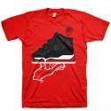 Signature Now Serving a Mas-T-Piece Jordan Bred XI (11) T-Shirt