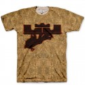 Signature Now Serving LeBron Logo on Cork All Over Print LeBron X Cork Hook Up T-Shirt by GourmetKickz