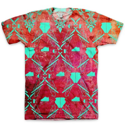 The Pink Damask All Over Print Logo T-Shirt by GourmetKickz