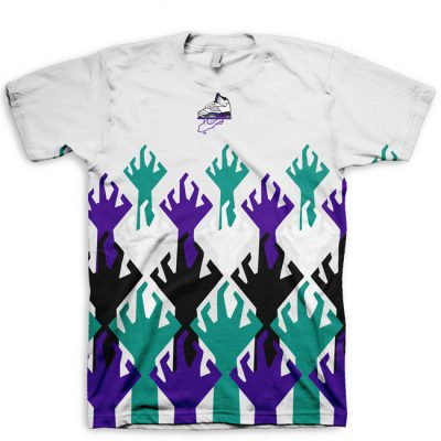 World War KickZ Jordan 5 Grape All Over Print T-Shirt by GourmetKickz
