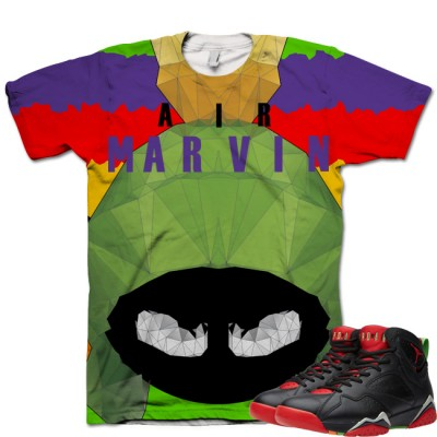 Jordan 7 Marvin The Martian T-Shirt | Big Marv