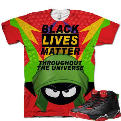 Jordan 7 Marvin The Martian T-Shirt | Black Lives Matter