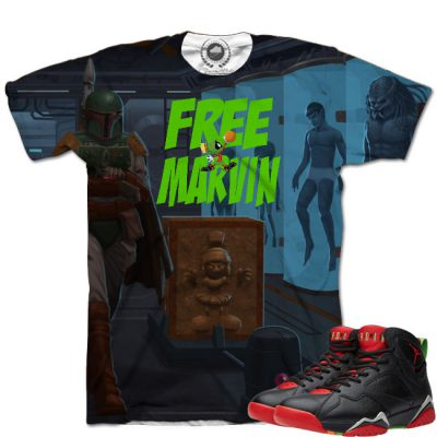 Jordan 7 Marvin The Martian Free Marvin T-Shirt
