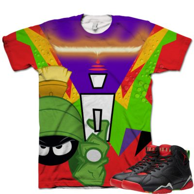 Jordan 7 Marvin The Martian T-Shirt | I'm On Fire