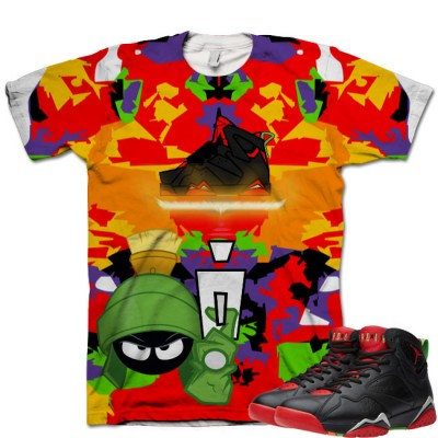 Jordan 7 Marvin The Martian Shirt V10 by GourmetKickz
