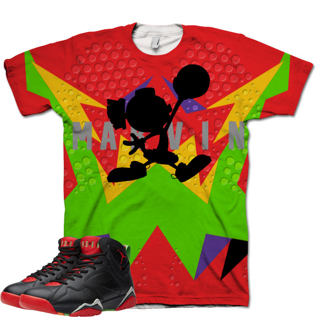 Jordan 7 Marvin The Martian Shirt V3 by GourmetKickz